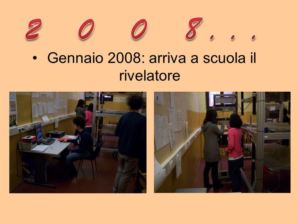 Gennaio 2008: arriva a scuola il rivelatore