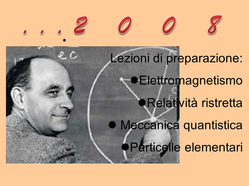 Lezioni di preparazione: Elettromagnetismo Relatività ristretta