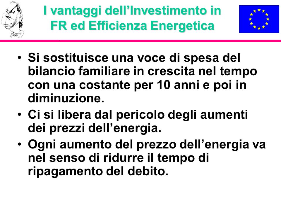 I vantaggi dell'Investimento in FR ed Efficienza Energetica