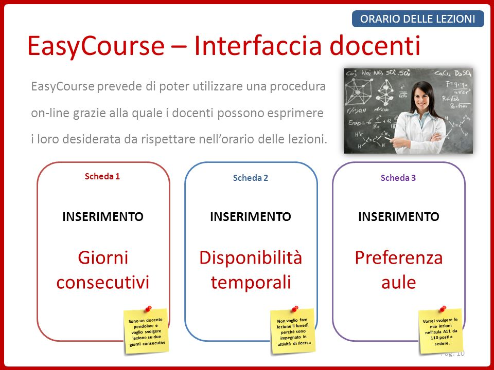 EasyCourse – Interfaccia docenti