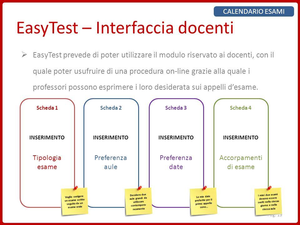 EasyTest – Interfaccia docenti