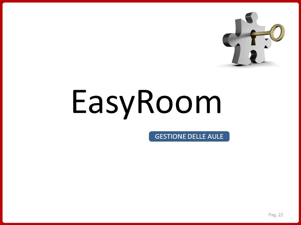 EasyRoom GESTIONE DELLE AULE