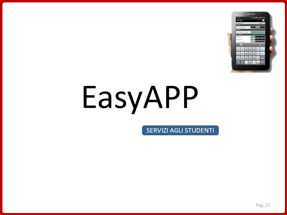 EasyAPP SERVIZI AGLI STUDENTI