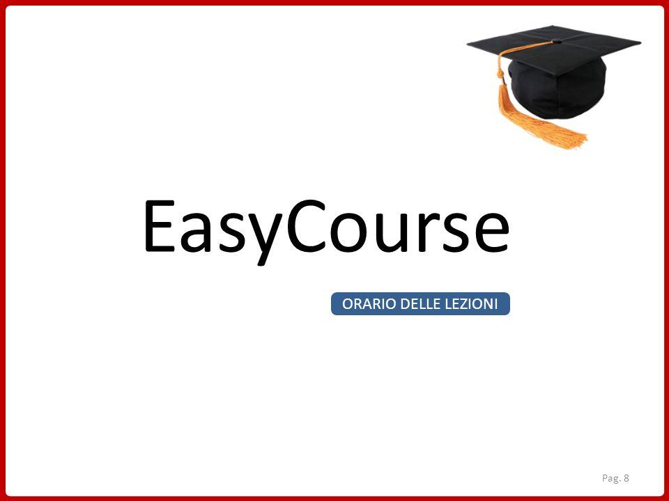 EasyCourse ORARIO DELLE LEZIONI