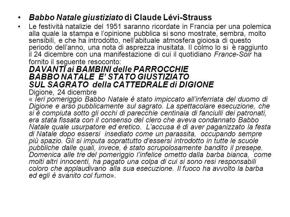 Babbo Natale giustiziato di Claude Lévi-Strauss