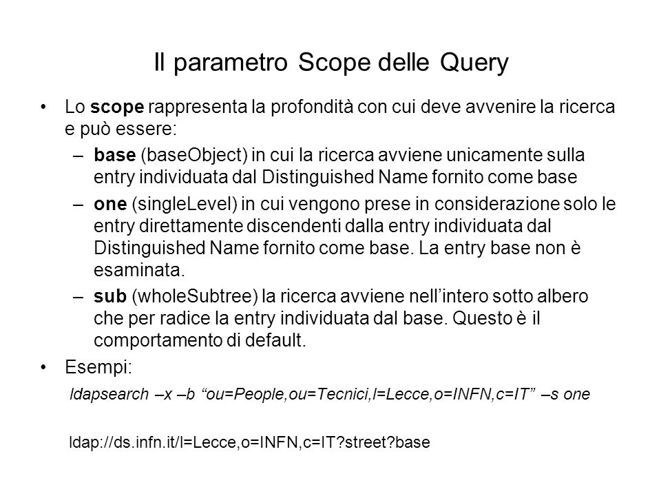 Il parametro Scope delle Query