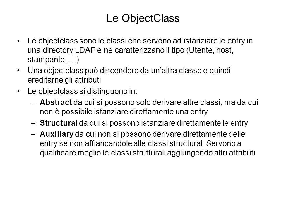 Le ObjectClass