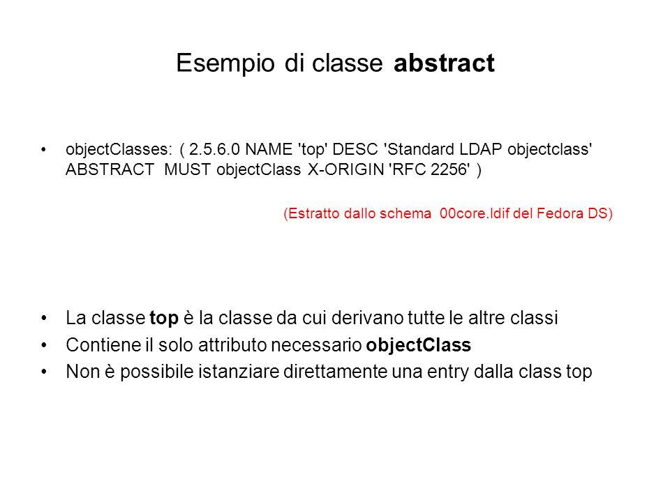Esempio di classe abstract