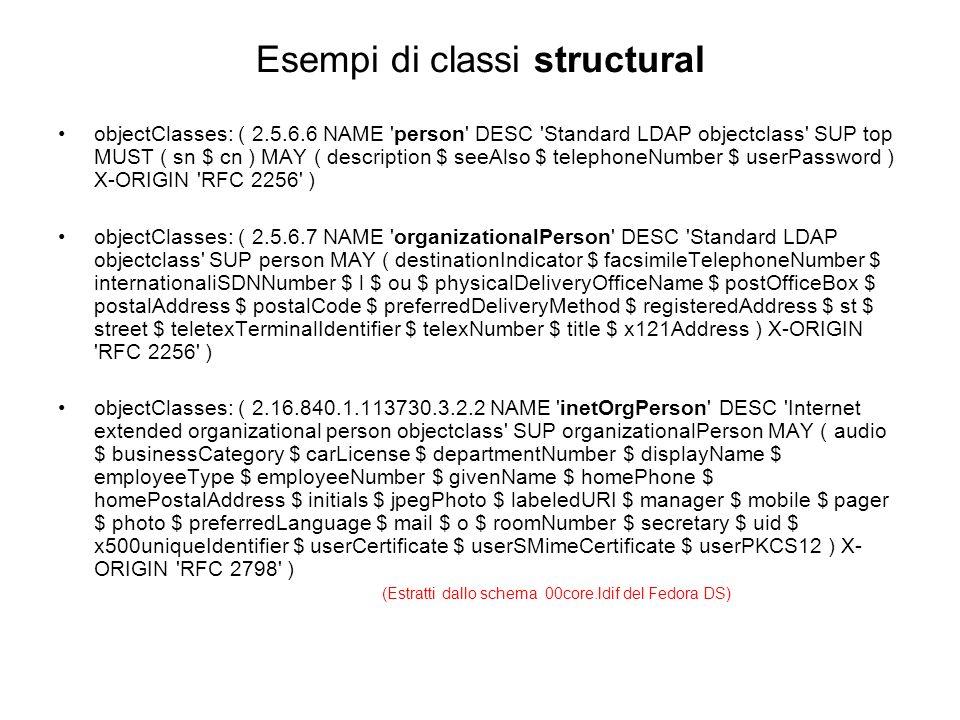 Esempi di classi structural