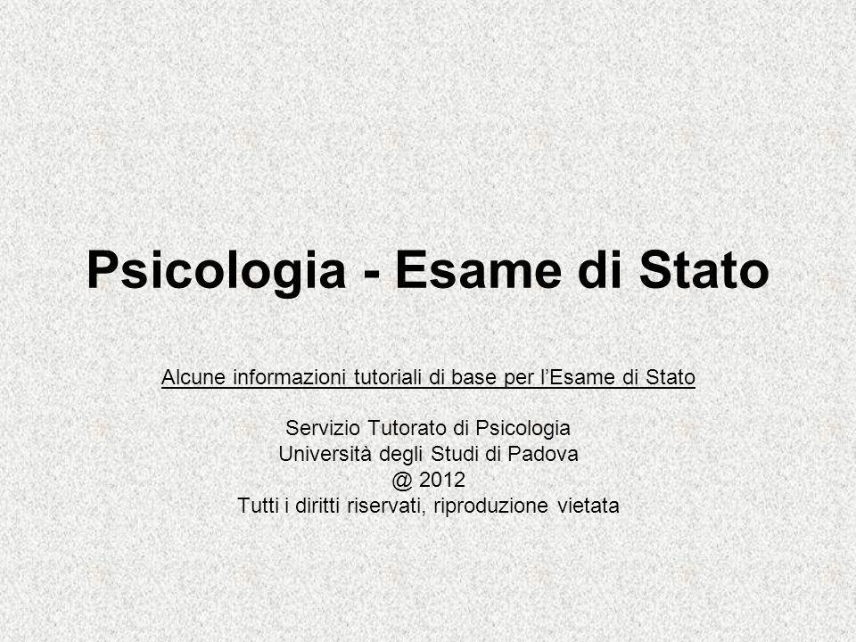 Psicologia - Esame di Stato