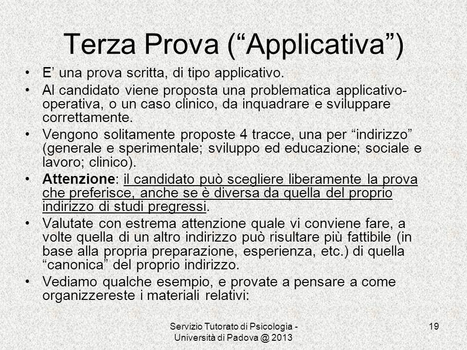 Terza Prova ( Applicativa )