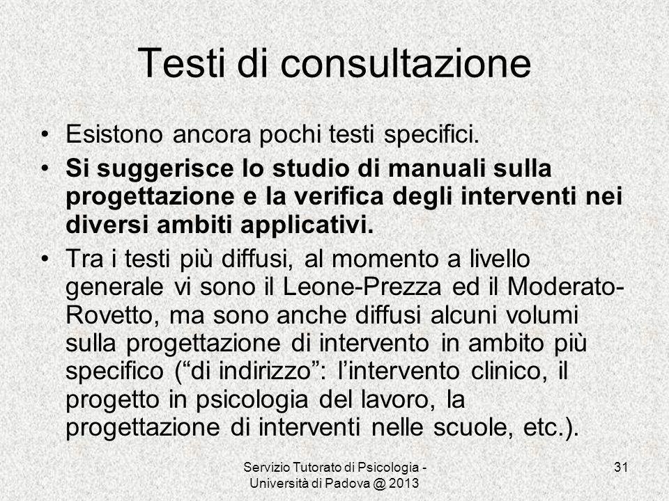 Testi di consultazione