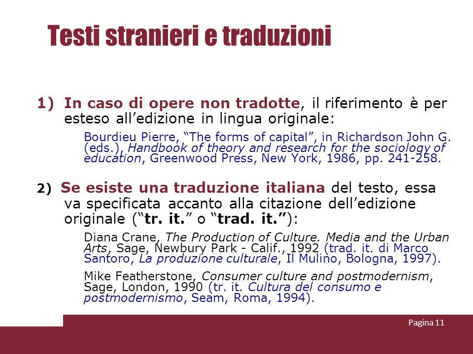 Testi stranieri e traduzioni