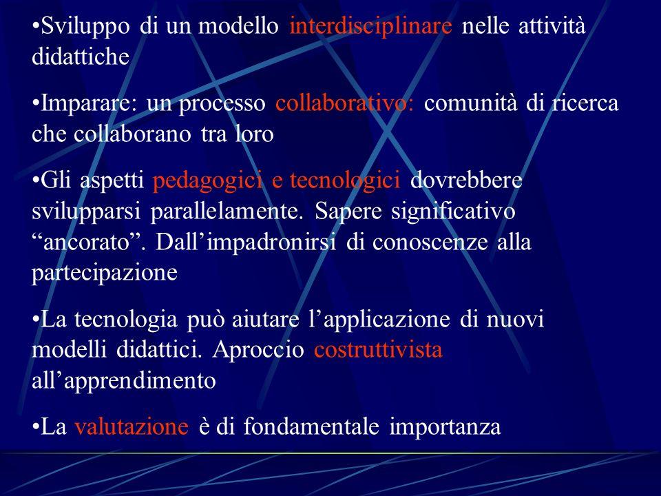 Sviluppo di un modello interdisciplinare nelle attività didattiche