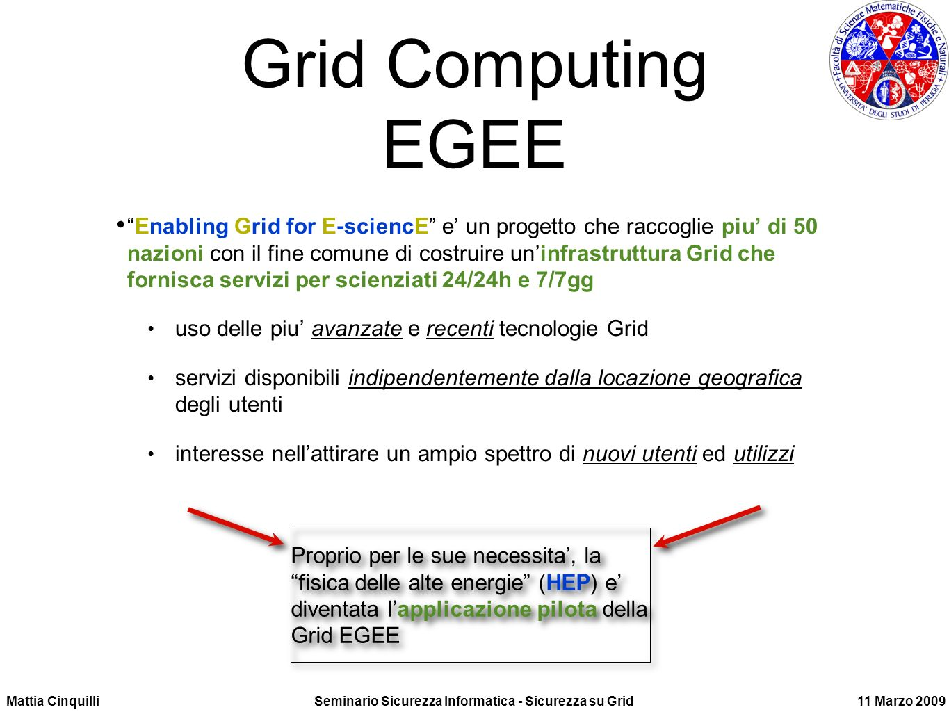 Grid Computing EGEE