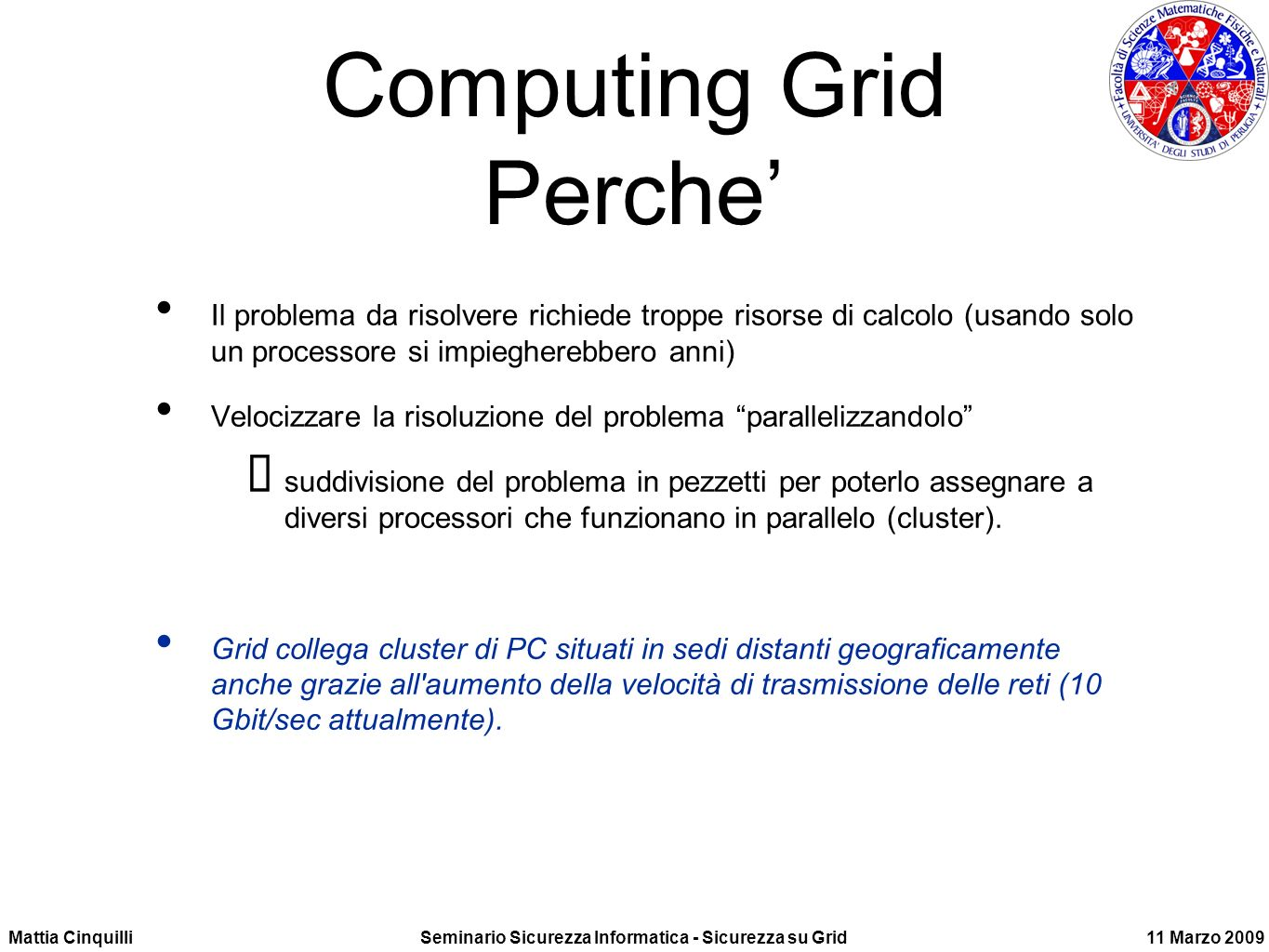 Computing Grid Perche'