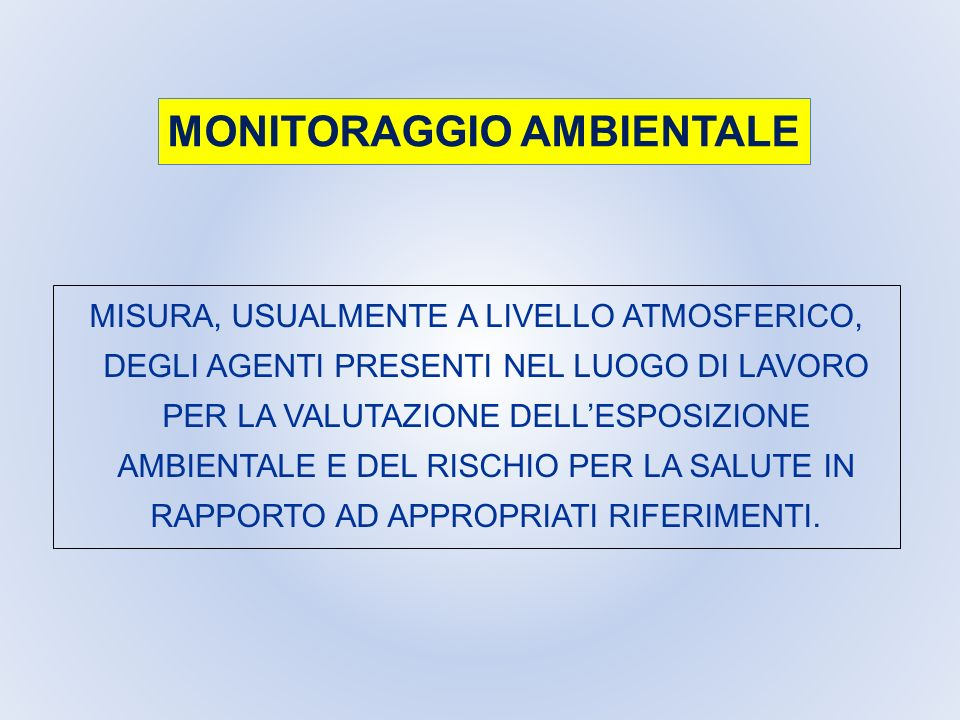 MONITORAGGIO AMBIENTALE