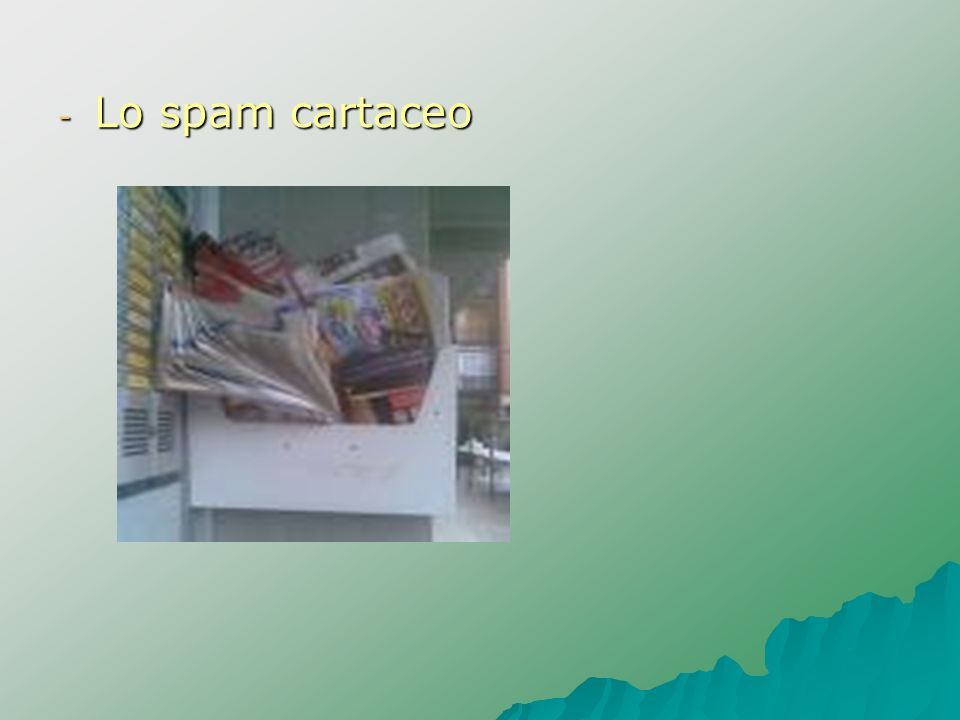 Lo spam cartaceo