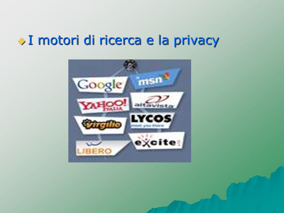 I motori di ricerca e la privacy
