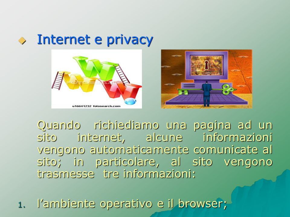 Internet e privacy