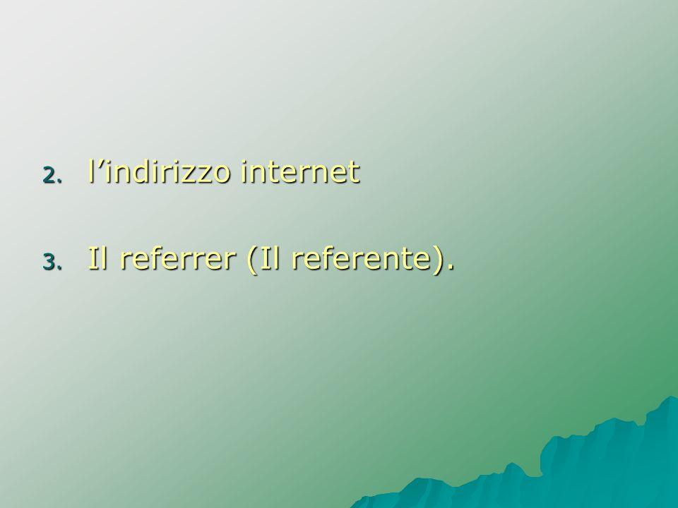 l'indirizzo internet Il referrer (Il referente).