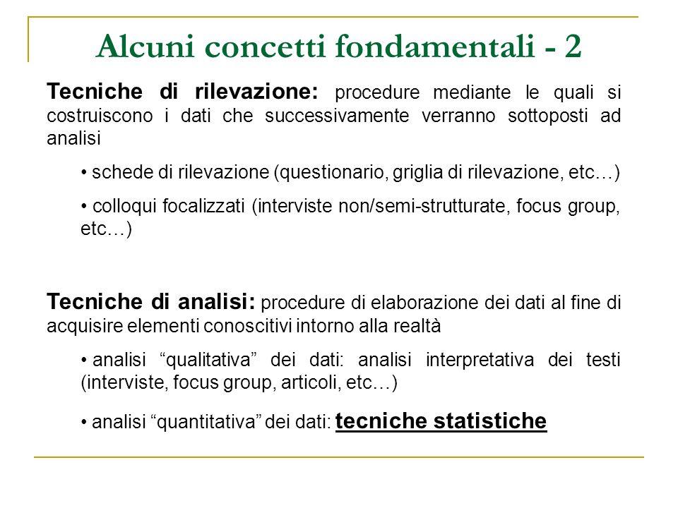 Alcuni concetti fondamentali - 2
