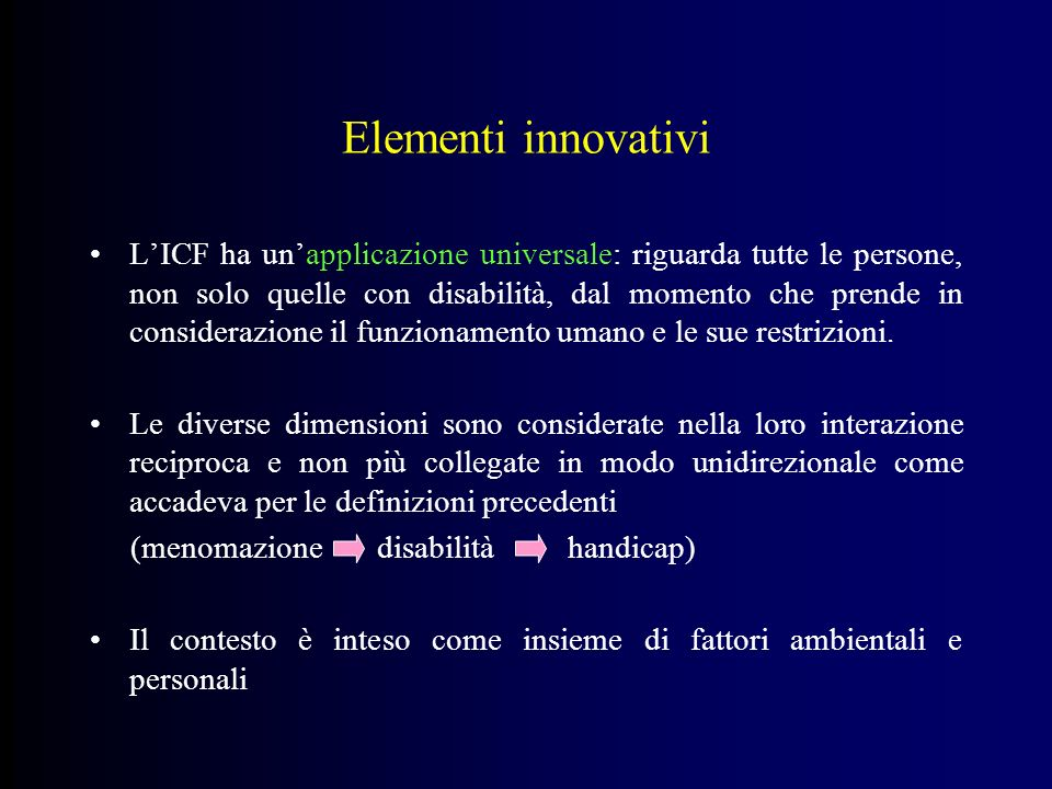 Elementi innovativi