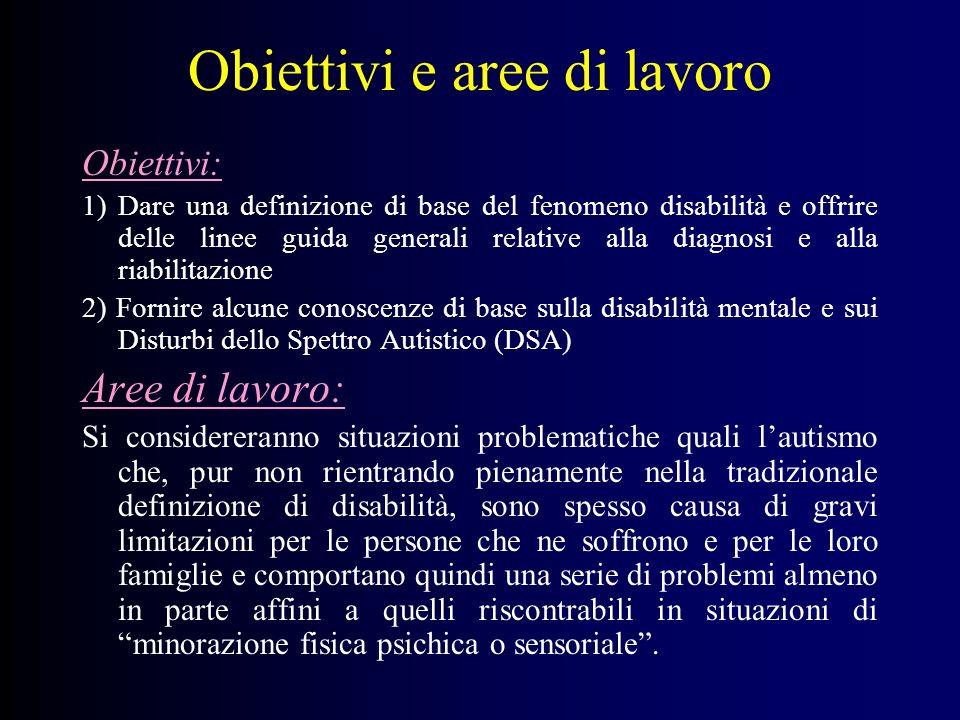 Obiettivi e aree di lavoro
