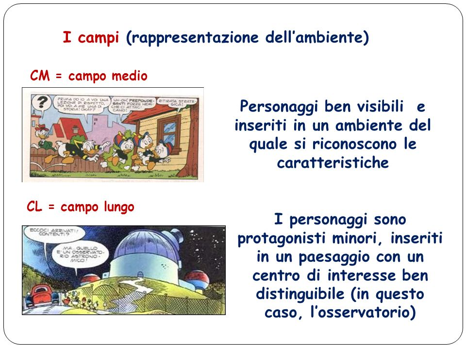 I campi (rappresentazione dell'ambiente)