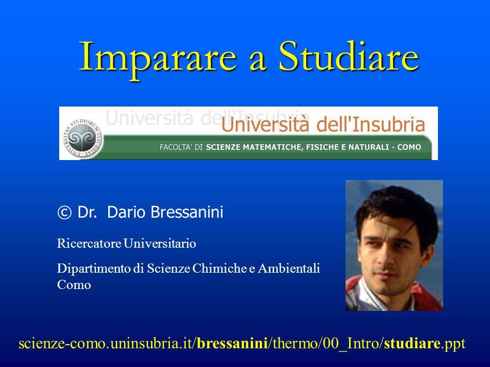 Imparare a Studiare © Dr. Dario Bressanini