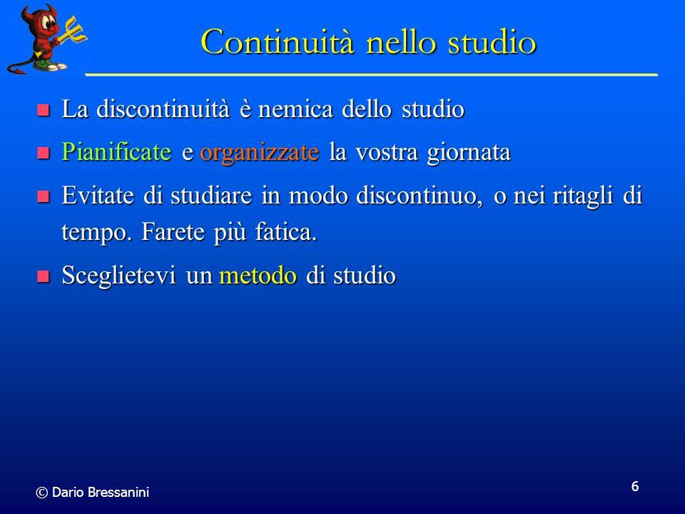 Continuità nello studio