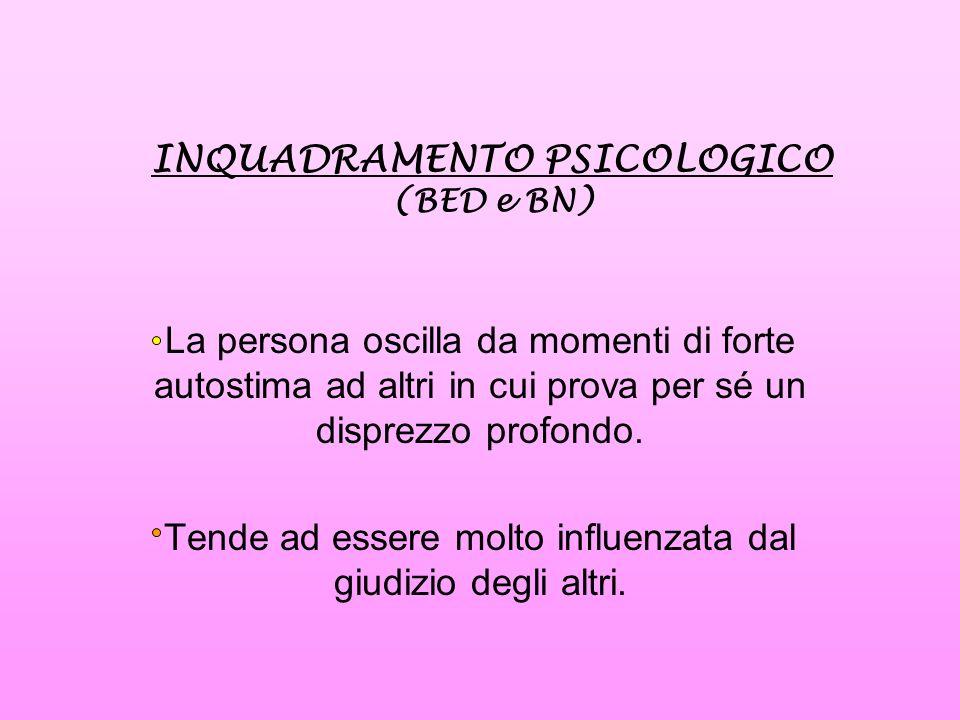 INQUADRAMENTO PSICOLOGICO (BED e BN)