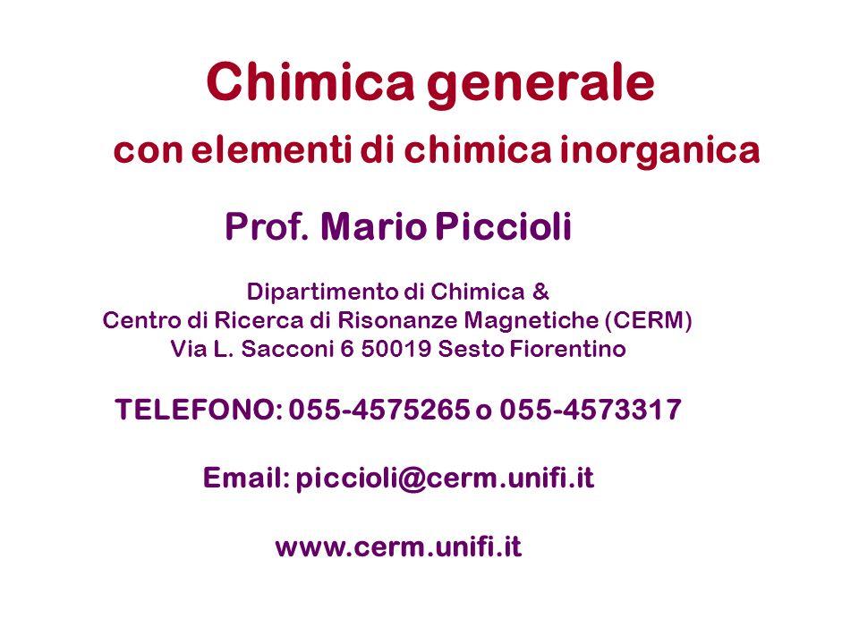 Chimica generale con elementi di chimica inorganica