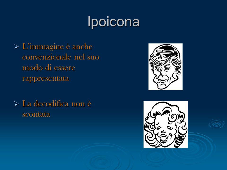 IpoiconaL'immagine è anche convenzionale nel suo modo di essere rappresentata.
