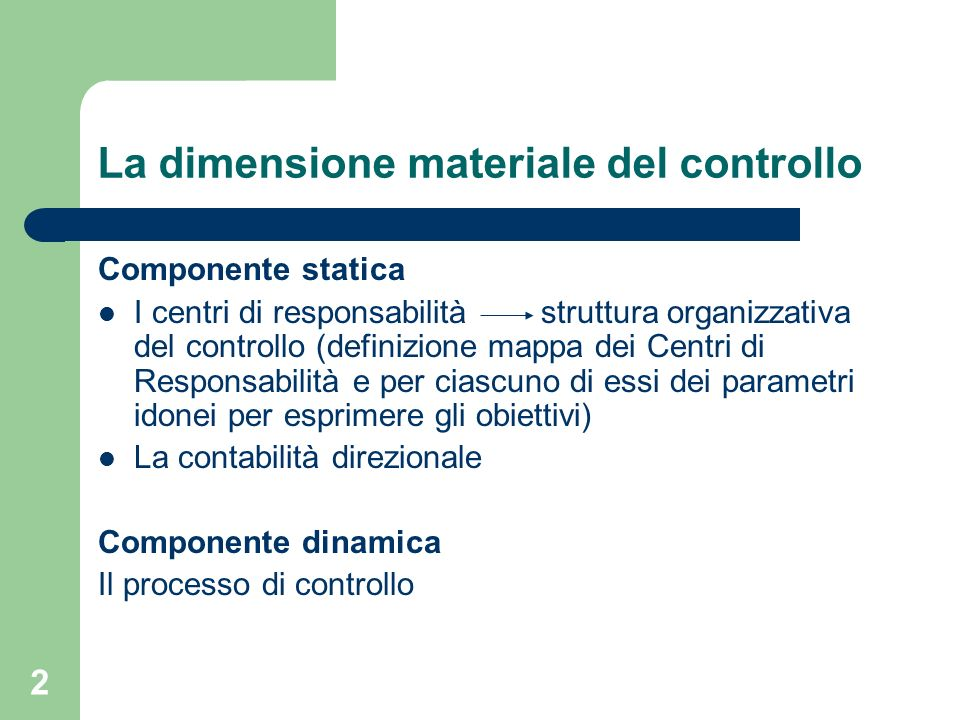 La dimensione materiale del controllo