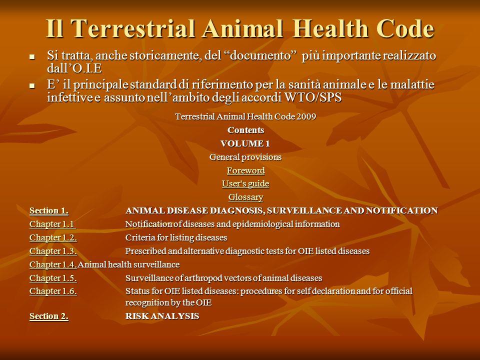 Il Terrestrial Animal Health Code