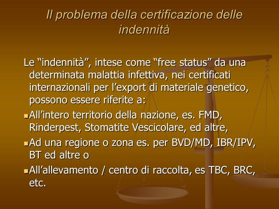 Il problema della certificazione delle indennità