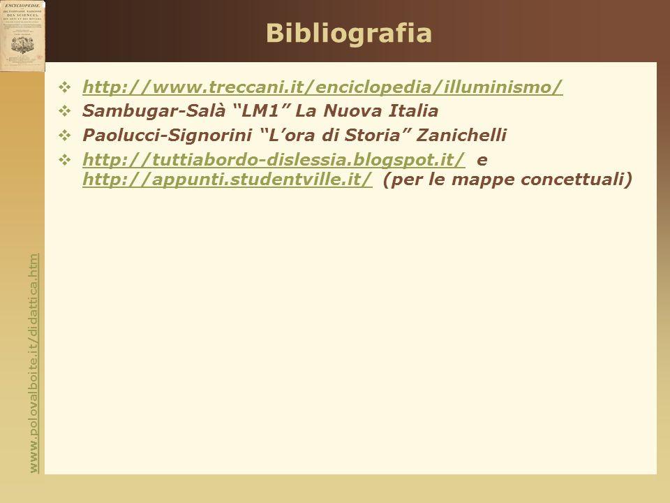 Bibliografia http://www.treccani.it/enciclopedia/illuminismo/