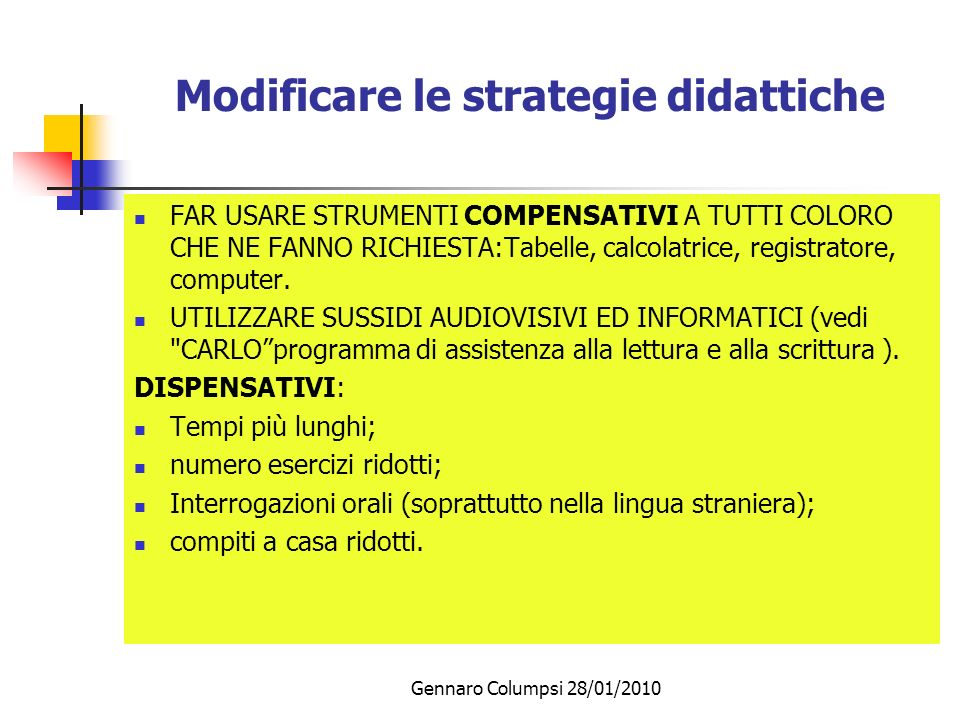 Modificare le strategie didattiche