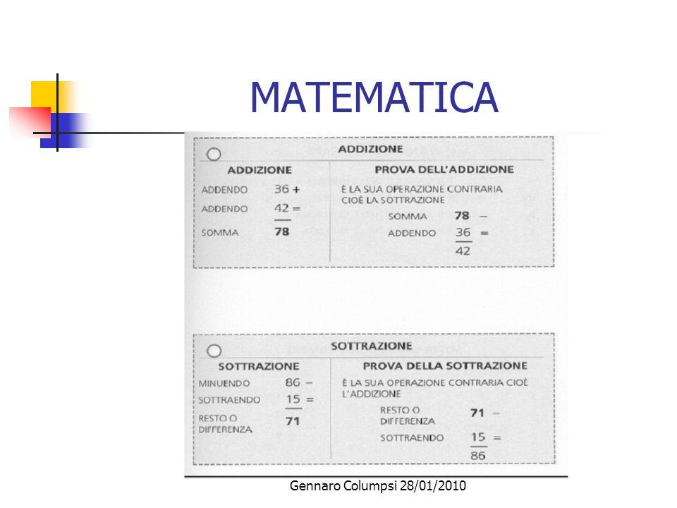 MATEMATICA Gennaro Columpsi 28/01/2010
