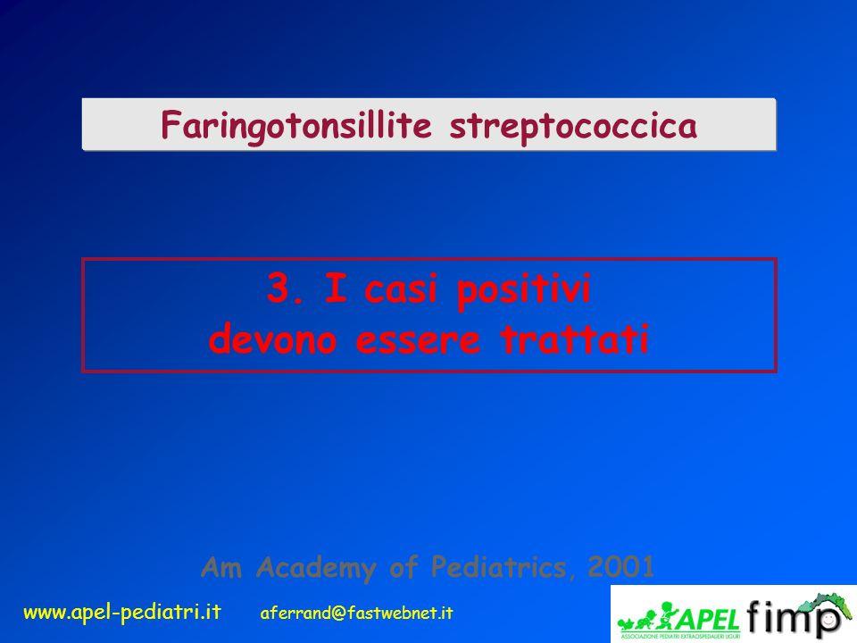 Faringotonsillite streptococcica devono essere trattati