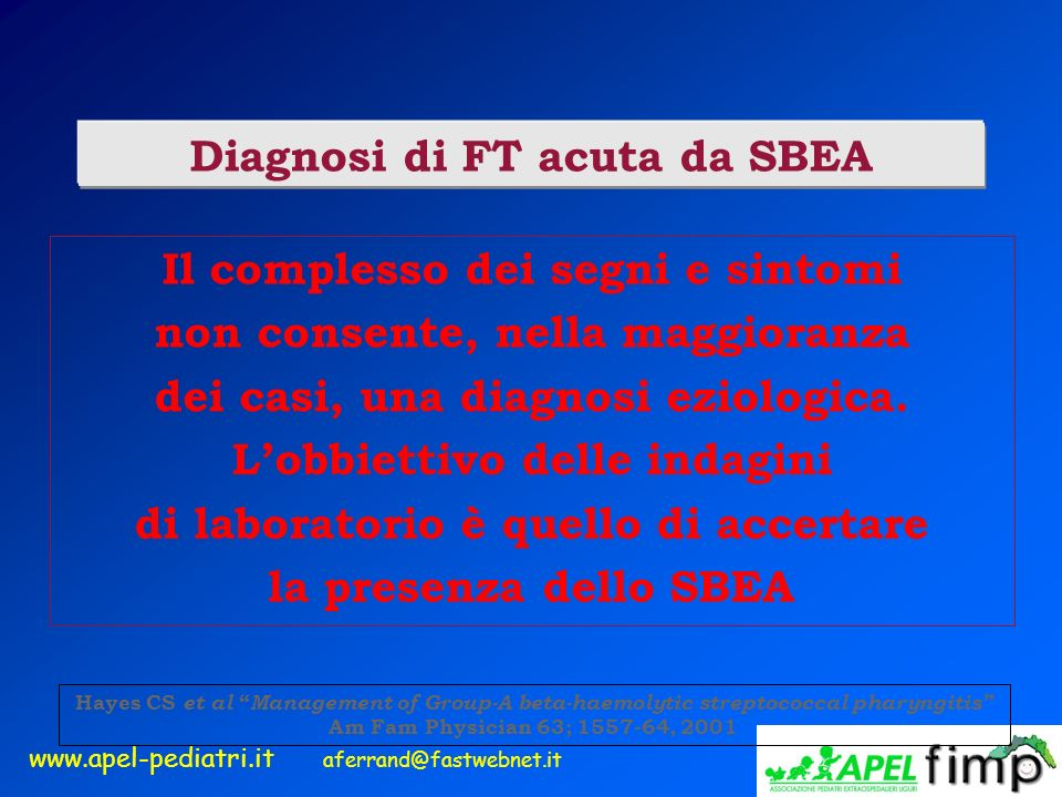 Diagnosi di FT acuta da SBEA
