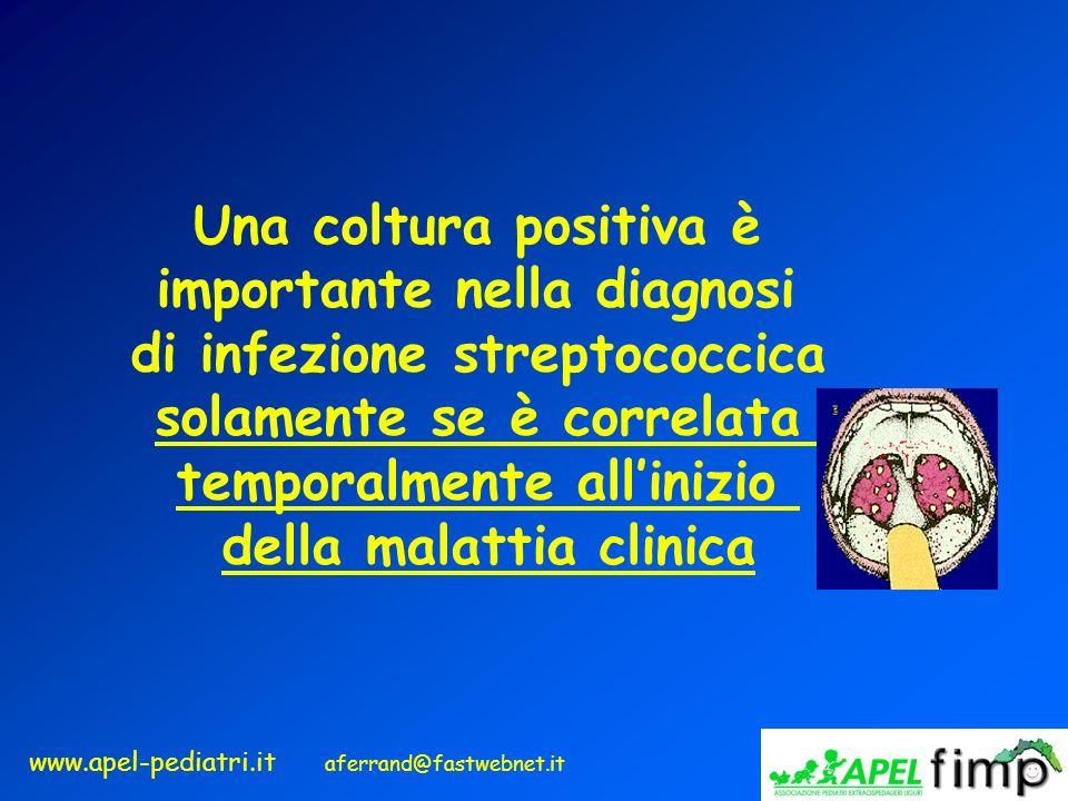 importante nella diagnosi di infezione streptococcica