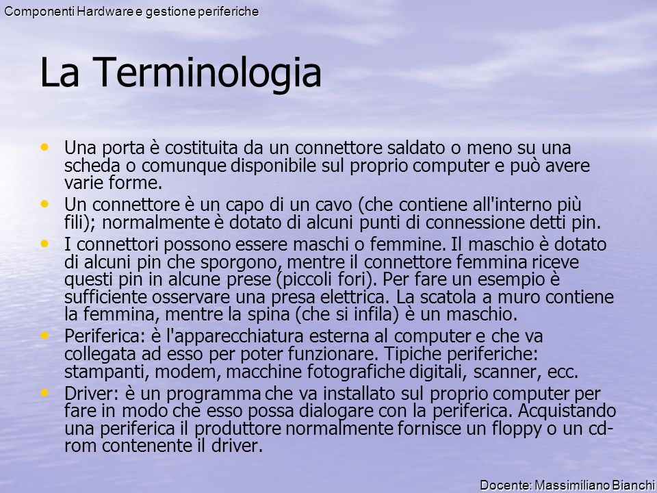 La Terminologia