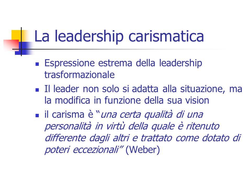 La leadership carismatica