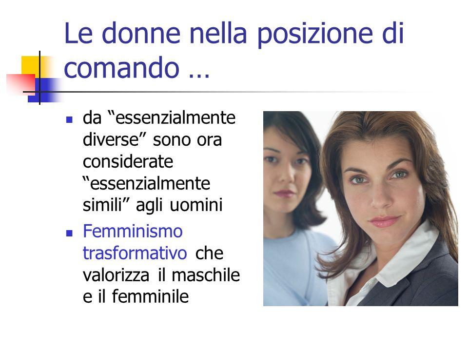 Le donne nella posizione di comando …