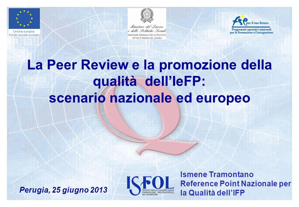 La Peer Review e la promozione della qualità dell'IeFP: scenario nazionale ed europeo