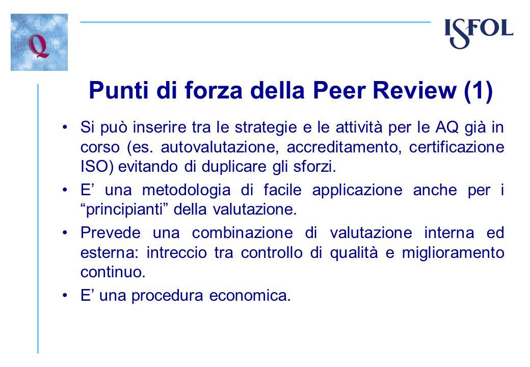 Punti di forza della Peer Review (1)