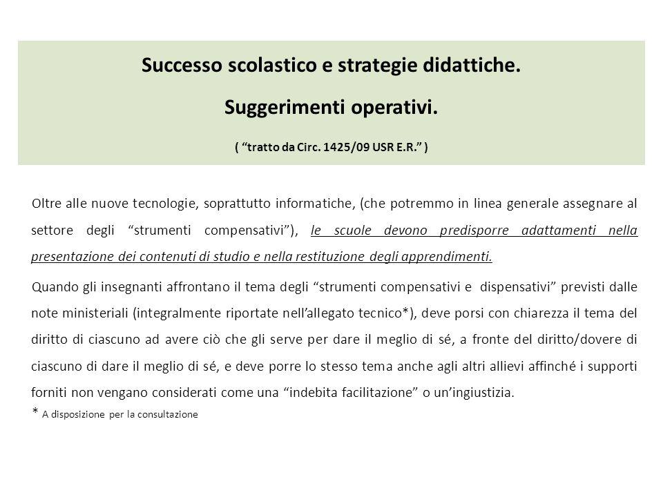 Successo scolastico e strategie didattiche. Suggerimenti operativi