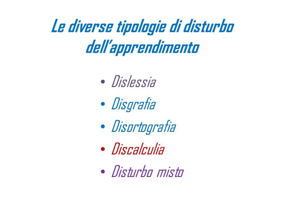Le diverse tipologie di disturbo dell'apprendimento